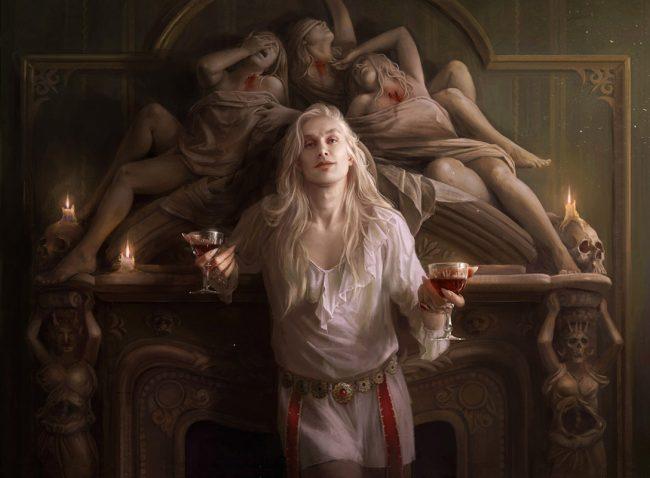 """Digital painting by Martina Fačková. """"Spellbinding Terror"""" [Digital Painting, Adobe Photoshop]"""