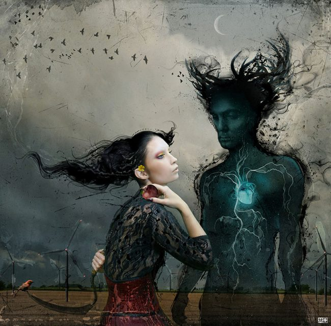 """Digital Collage by Vincent Marcone. """"Nothing Can Stop Lleana"""" [Digital Collage, Adobe Photoshop]"""