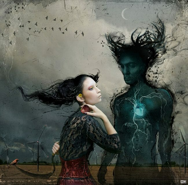 "Digital Collage by Vincent Marcone. ""Nothing Can Stop Lleana"" [Digital Collage, Adobe Photoshop]"