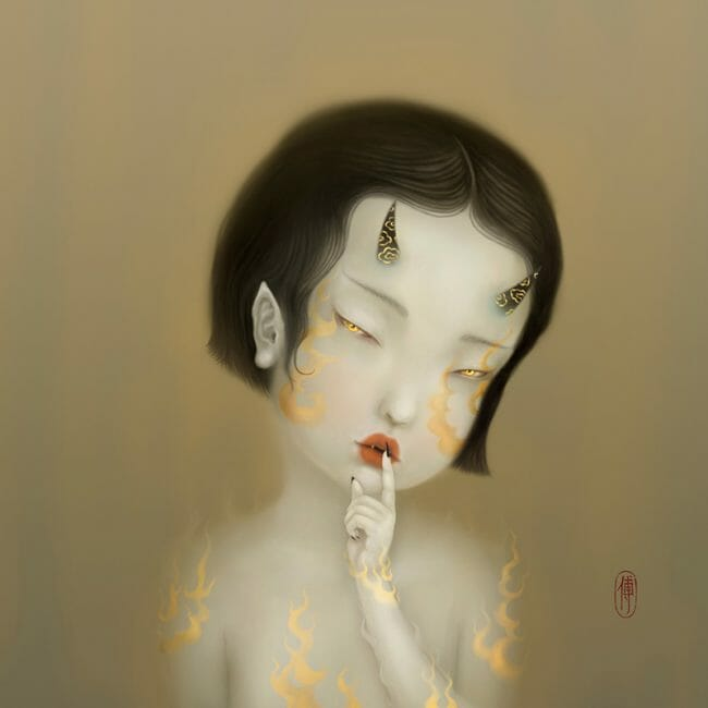 "Digital Painting by Sonya FU. ""Hush!"" [Digital Painting, Adobe Photoshop, Wacom tablet]"