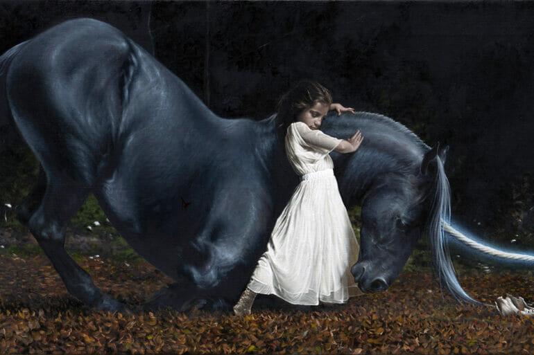 Victor Grasso painting of unicorn