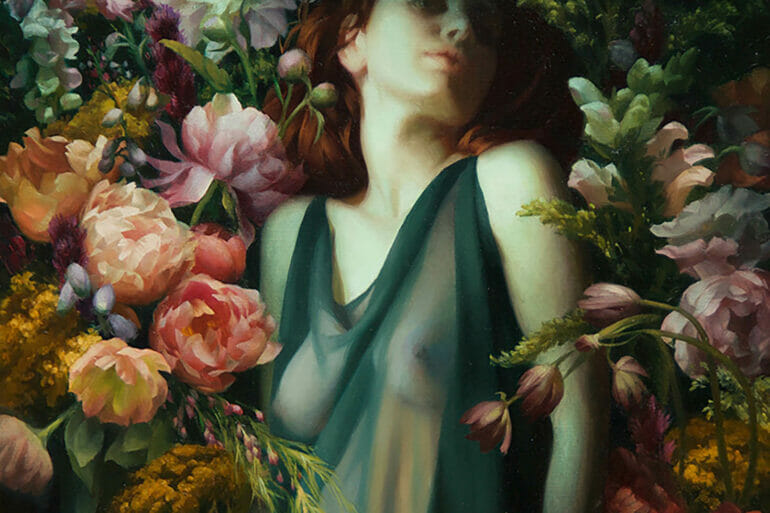 Adrienne Stein - oil painting - figurative art floral flowers
