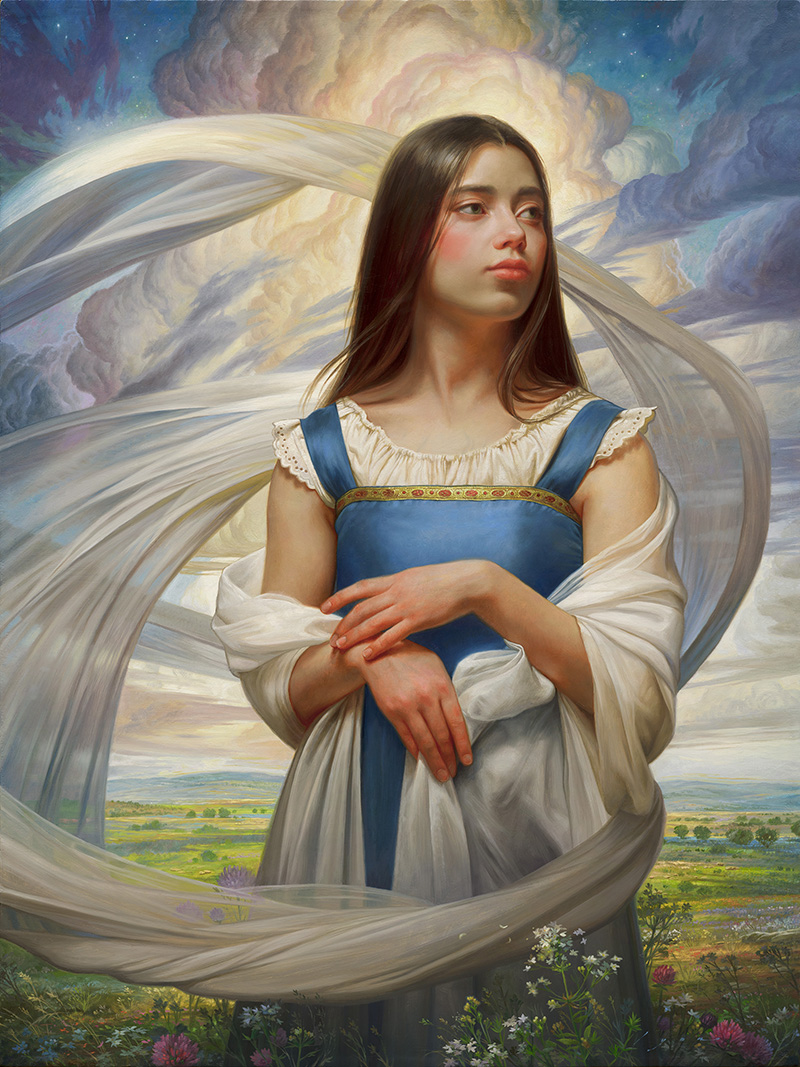 """Howard Lyon """"Ella Standing Between the Earth and Sky"""""""