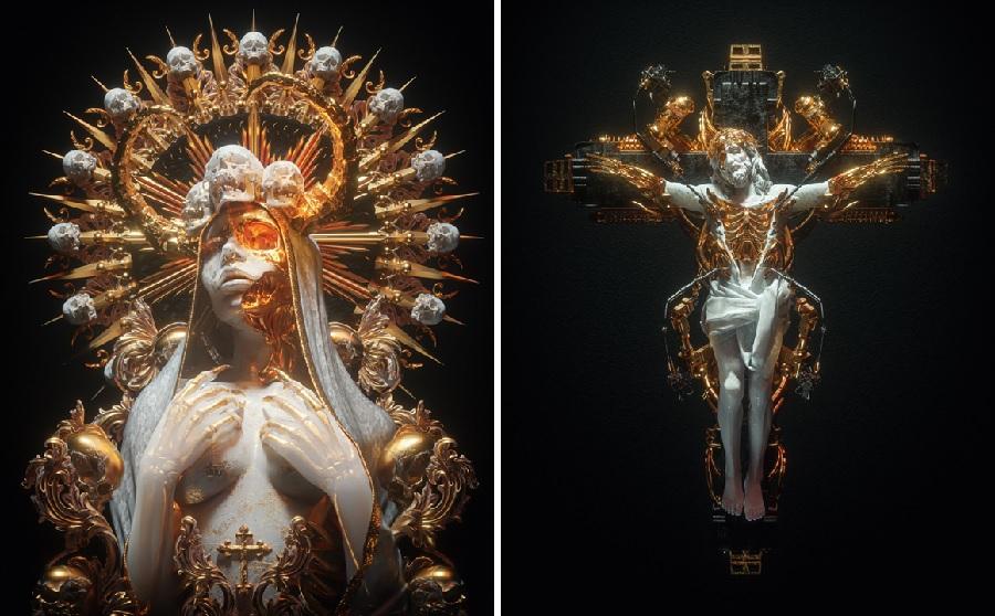 Billelis & Sick Mick 3D digital artwork for Beautiful Bizarre Art Prize